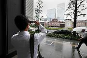renovated Tokyo Station street view Japan
