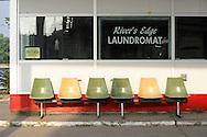 Laundromat, Downtown Bellevue, Iowa, USA
