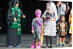 Children take part in the contest for best costume.  Virgin Islands Montessori School and Peter Gruber International Academy hosts Fall Fest 2015.  St. Thomas, USVI.  31 October 2015.  © Aisha-Zakiya Boyd