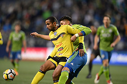 March 1, 2018 - Seattle, Washington, U.S - Soccer 2018: Seattle's NOUHOU (5) defends against RICARDINHO (22) as Santa Tecla FC visits the Seattle Sounders for a CONCACAF match at Century Link Field in Seattle, WA. (Credit Image: © Jeff Halstead via ZUMA Wire)