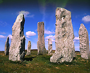 The Standing stones at Callanish on the island of Lewis, Outer Hebrides.
