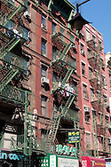 New York. architecture in Chinatown and canal street, old buildings with outside staircases, old streets, Manhattan  New York - United states /  architecture in Chinatown  , immeubles anciens traditionnels,  vielles ruelles typiques, Manhattan  New York - Etats-unis