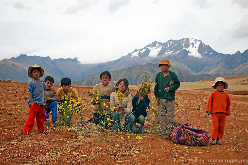 Americas, South America, Peru, Andes. Children of the Andes.