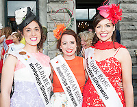 30/07/2015 Ireland&rsquo;s leading model, Roz Purcell,  judged at the 4 star,  Hotel Meyrick&rsquo;s annual most stylish lady competition on Kilkenny's Ladies Day of Galway Race Week 2015.  <br /> Ailish Brennan, Kildare Rose, Michelle Caulfield Monaghan Rose and Aoife Murphy Cork Rose attended the event. Photo:Andrew Downes