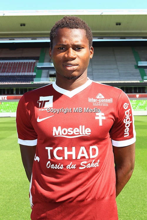 Habib Diallo poses for a portrait during the Metz squad photo call for the 2016-2017 Ligue 1 season on September 15, 2016 in Metz, France<br /> Photo : Fred Marvaux / Icon Sport