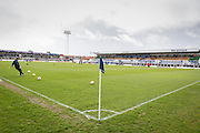 general view of stadium before the Sky Bet League 2 match between Hartlepool United and York City at Victoria Park, Hartlepool, England on 16 April 2016. Photo by George Ledger.