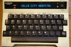 Close up of Minicom in operation at the Hospital,