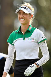 January 19, 2019 - Lake Buena Vista, FL, U.S. - LAKE BUENA VISTA, FL - JANUARY 19: Nelly Korda of the United States smiles after her drive on hole 2 during the third round of the Diamond Resorts Tournament of Champions on January 19, 2019, at Tranquilo Golf Course at Fours Seasons Orlando in Lake Buena Vista, FL. (Photo by Roy K. Miller/Icon Sportswire) (Credit Image: © Roy K. Miller/Icon SMI via ZUMA Press)