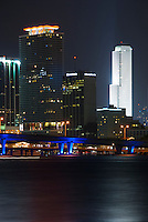 View of Miami Downton and Biscayne Bay at Night.