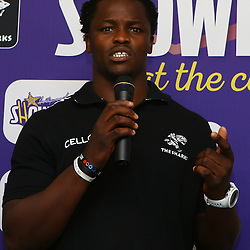 Durban South Africa -  December 3, Lubabalo Tera Mtembu during the joint announcement by Hollywoodbets, Cell C, the Sunfoil Dolphins and the Cell C Sharks at the President Suite at Sahara Stadium Kingsmead.Sahara Stadium Kingsmead (Photo by Steve Haag)images for social media must have consent from Steve Haag