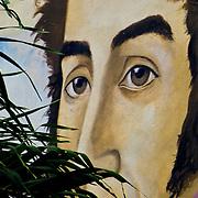 Mural de Simon Bolivar en la ciudad de Cabimas, Estado Zulia - Venezuela .Photography by Aaron Sosa.Venezuela 2006.(Copyright © Aaron Sosa)