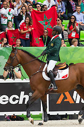 Abdelkebir Ouaddar, (MAR), Quickly De Kreisker - World Champions, - Second Round Team Competition - Alltech FEI World Equestrian Games™ 2014 - Normandy, France.<br /> © Hippo Foto Team - Leanjo De Koster<br /> 25/06/14