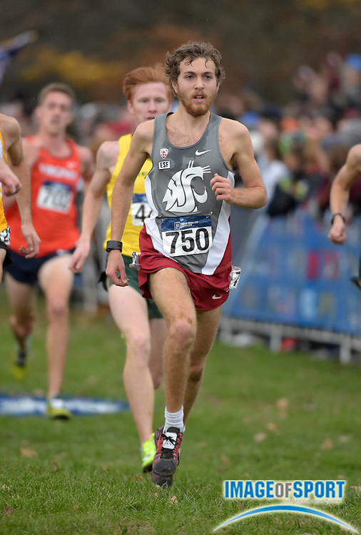 Nov 21, 2015; Louisville, KY, USA; Michael Williams of Washington State competes during the 2015 NCAA cross country championships at Tom Sawyer Park.