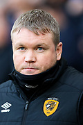Hull City manager Grant McCann during the EFL Sky Bet Championship match between Derby County and Hull City at the Pride Park, Derby, England on 18 January 2020.