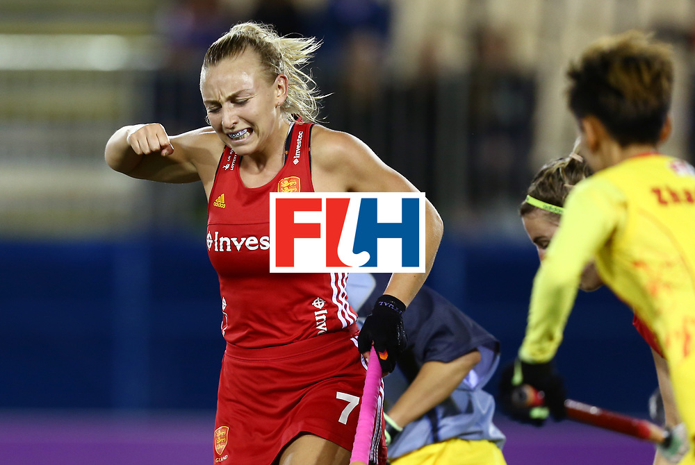 New Zealand, Auckland - 21/11/17  <br /> Sentinel Homes Women&rsquo;s Hockey World League Final<br /> Harbour Hockey Stadium<br /> Copyrigth: Worldsportpics, Rodrigo Jaramillo<br /> Match ID: 10302 - ENG vs CHN<br /> Photo: (7) MARTIN Hannah