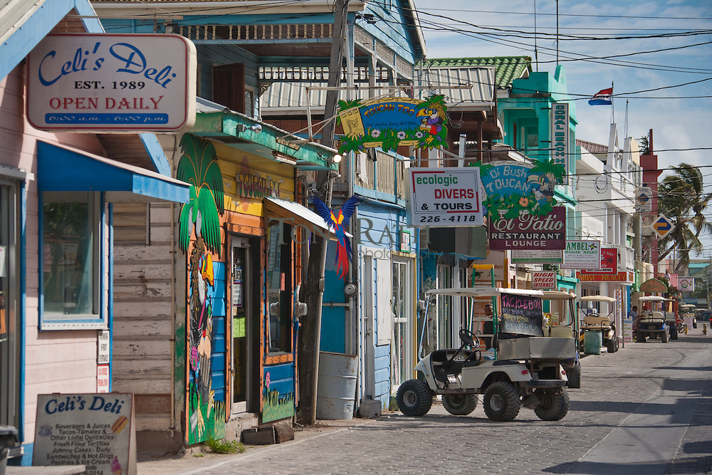 Streets of San Pedro Town, Ambergris Caye, Belize