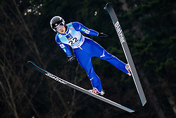Nozomi Maruyama of Japan soaring through the air during Trial Round at Day 1 of World Cup Ski Jumping Ladies Ljubno 2019, on February 8, 2019 in Ljubno ob Savinji, Slovenia. Photo by Matic Ritonja / Sportida