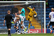 Forest Green Rovers goalkeeper Robert Sanchez(1) punches the ball clear during the EFL Sky Bet League 2 match between Bury and Forest Green Rovers at the JD Stadium, Bury, England on 18 August 2018.