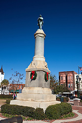 Monument for Confederate soldiers who fought in the Civil War, Orangeburg, South Carolina, United States of America