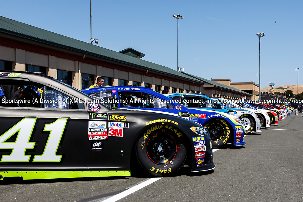 SONOMA, CA - JUNE 24: during preparation for qualifying for the Monster Energy NASCAR Cup held at Sonoma Raceway on June 23-25, 2017. (Photo by Allan Hamilton/Icon Sportswire)