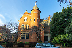 Jimmy Page's Grade I listed Tower House in Melbury Road, where the Led Zeppelin guitarist and neighbouring Solo mega-star and former Take That member Williams are locked in a bitter planning dispute over Williams' plans for an 'iceberg' basement under his home in West London's posh Holland Park. London, December 17 2018.