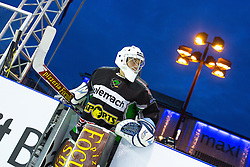 Ales Sila at first practice before Ice Fest 2014 on Repulic Square for Winter Classic of HDD Telemach Olimpija called Pivovarna Union Ice Fest 2014, on December 15, 2014 on Republic Square, Ljubljana, Slovenia. (Photo By Matic Klansek Velej / Sportida.com)