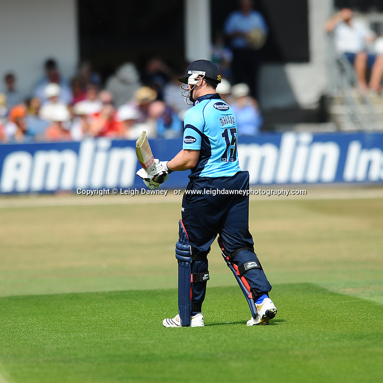 "Matt Machan of Sussex out for LBW during the Friends Life T20 between Essex ""Eagles"" v Sussex ""Sharks"" at the Essex County Cricket Ground on the 14th July 2013. Credit: © Leigh Dawney Photography. Self Billing where applicable. Tel: 07812 790920"