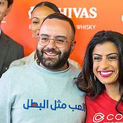 NLD/Amsterdam/20190509 -  Zoe Saldana bij finale van de Chivas Venture, Tey El-Rjula en Komal Ahmad