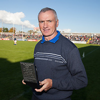 Noel Roche, St. Senans Kilkee, a member of the 1989 Football winning side with his award to mark the 25th anniversary of his football final win