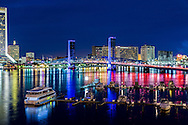 The Jacksonville Florida Skyline seen from the Acosta Bridge