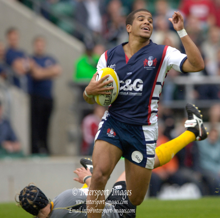 2005 Middlesex Rugby 7's, RFU Twickenham, Surrey, ENGLAND.  Final Gloucester vs London Wasps. James Bailey, 13.08.2005.  . © Peter Spurrier/Intersport Images - email images@intersport-images...   [Mandatory Credit, Peter Spurier/ Intersport Images].