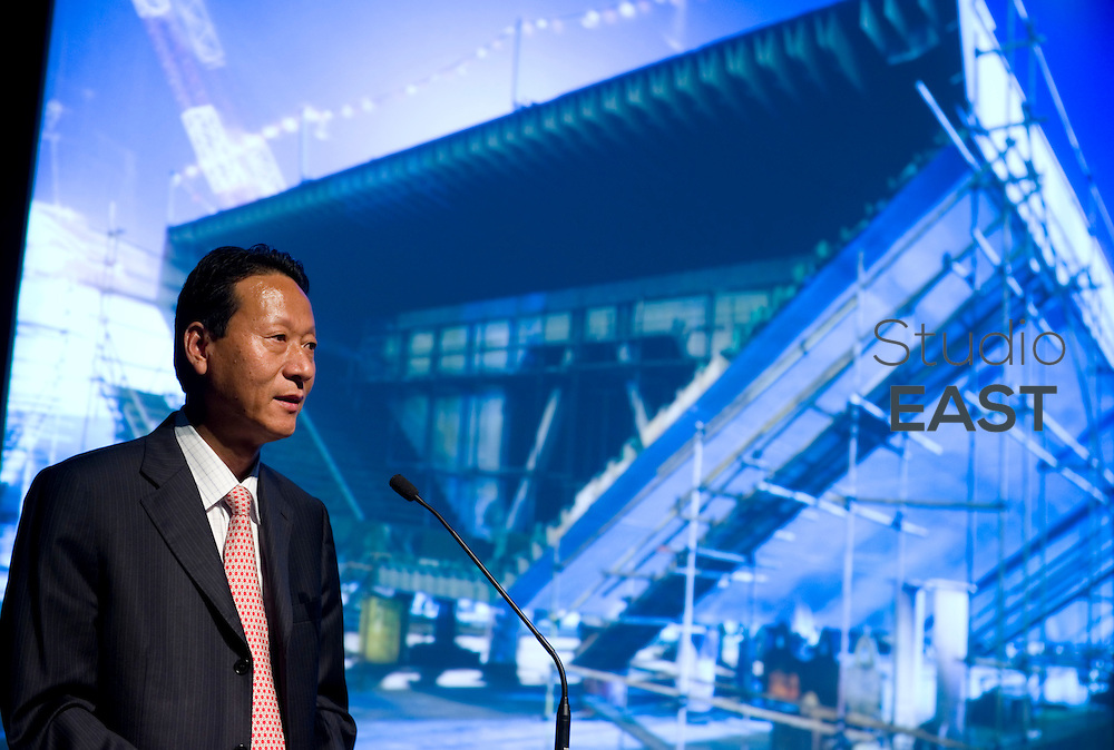 ZPMC CEO Kang Xuezeng speaks during Transportation Day in the Urban Best Pratices Pavilion, at Shanghai World Expo 2010, on June 20, 2010. Photo by Lucas Schifres/Pictobank