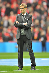JURGEN KLOPP MANAGER LIVERPOOL, Liverpool FC v Manchester City FC Capital One Cup Final, Wembley Stadium, Sunday 28th Febuary 2016