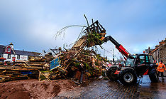 Bonfire Building, Biggar, 15 December 2019