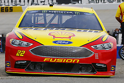 May 5, 2018 - Dover, Delaware, United States of America - Joey Logano (22) brings his car through the garage during practice for the AAA 400 Drive for Autism at Dover International Speedway in Dover, Delaware. (Credit Image: © Chris Owens Asp Inc/ASP via ZUMA Wire)