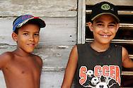 Boys near La Maquina, Guantanamo, Guantanamo, Cuba.