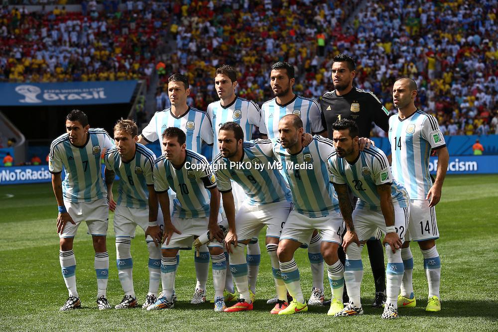 Fifa Soccer World Cup - Brazil 2014 - <br /> ARGENTINA (ARG) Vs. BELGIUM (BEL) - Quarter-finals - Estadio Nacional Brasilia -- Brazil (BRA) - 05 July 2014 <br /> Here Argentine starting players<br /> &copy; PikoPress