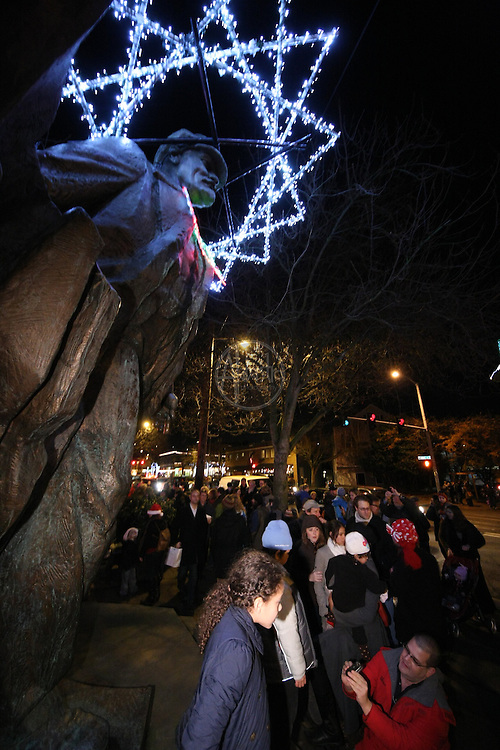 Fremont Neighborhood Lenin Lighting and Fremont Festivus Celebration 2011, in the Center of the Universe.