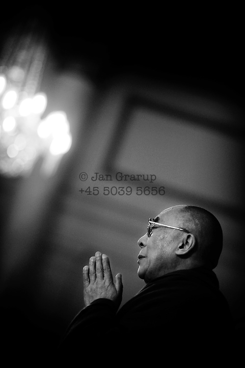 H.H. Dalai Lama during his visit in copenhagen - may 2009.