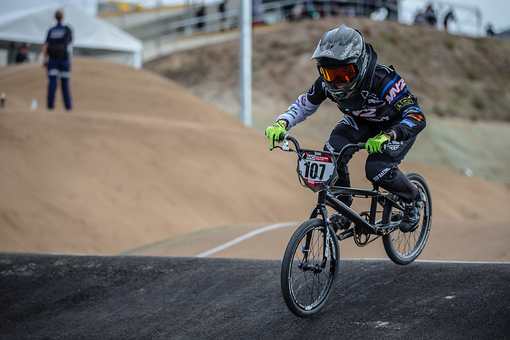 #107 (ROKOV Annaliese) AUS at Round 3 of the 2020 UCI BMX Supercross World Cup in Bathurst, Australia.
