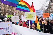 La manifestation pour l'égalité et pour le mariage pour tous du 27 janvier 2013 à Paris