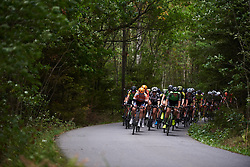 Megan Guarnier (USA) leads the bunch at Ladies Tour of Norway 2018 Stage 2, a 127.7 km road race from Fredrikstad to Sarpsborg, Norway on August 18, 2018. Photo by Sean Robinson/velofocus.com
