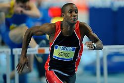 07-02-2010 ATLETIEK: NK INDOOR: APELDOORN<br /> Gregory Sedoc Nederlands kampioen 60 m horden<br /> ©2010-WWW.FOTOHOOGENDOORN.NL