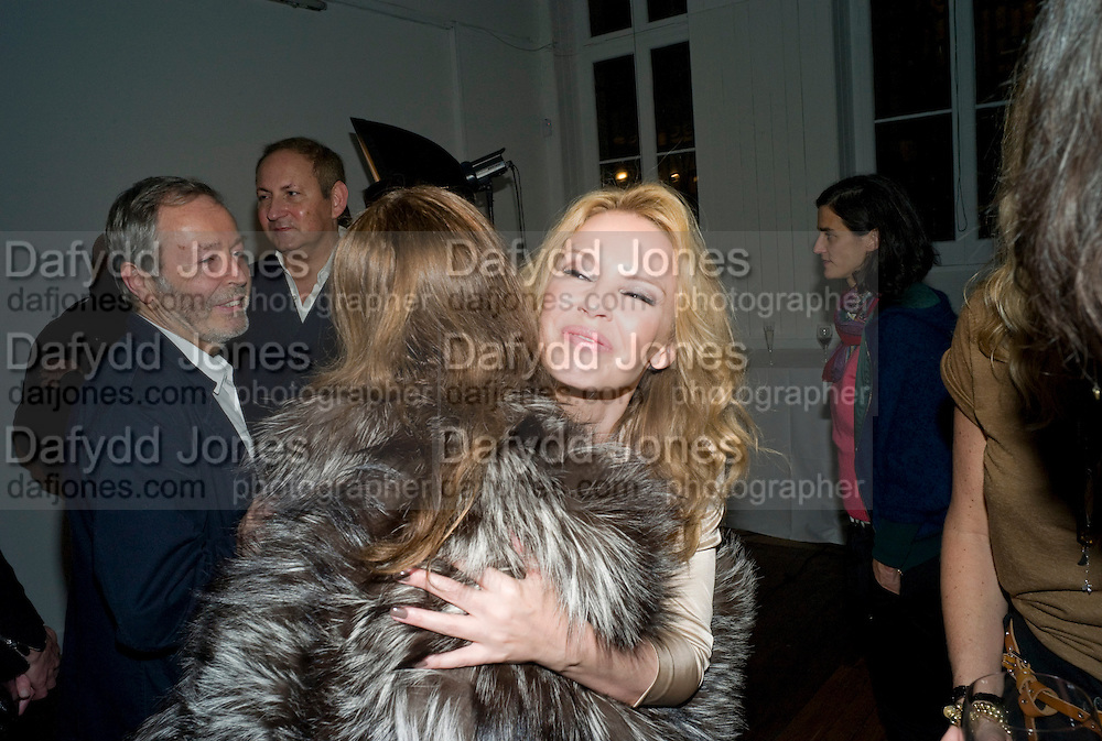 KARLA OTTO; KYLIE MINOGUE, 30 Years Of i-D - book launch. Q Book 5-8 Lower John Street, London . 4 November 2010. -DO NOT ARCHIVE-© Copyright Photograph by Dafydd Jones. 248 Clapham Rd. London SW9 0PZ. Tel 0207 820 0771. www.dafjones.com.