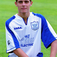 St Johnstone FC 2000/2001 squad pictures. 13.7.2000.<br />