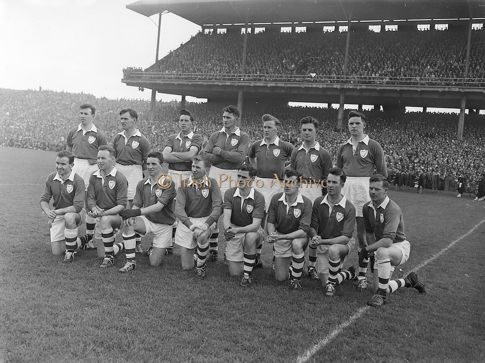 All Ireland Senior Football Championship Final, Louth v Cork .22.09.1957, 09.22.1957, 22st September 1957, Louth 1-09 Cork 1-07, 22091957AISFCF,..Louth Team, .Back row (from left) <br />