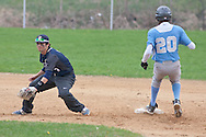 Goshen, New York - John S. Burke Catholic High School plays Sullivan West  in a baseball game on May 2, 2014.