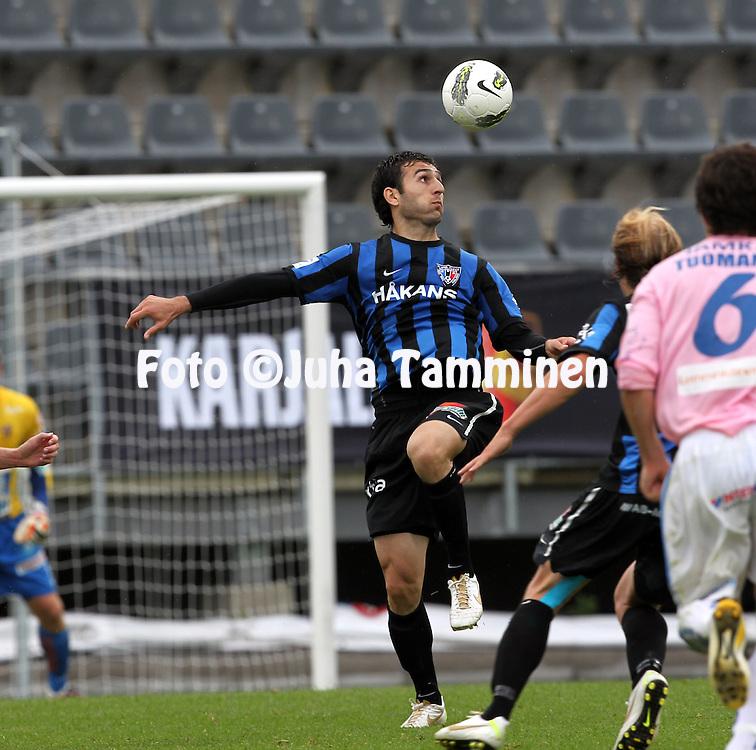 15.7.2012, Veritas stadion (Kupittaa), Turku..Veikkausliiga 2012..FC Inter Turku - JJK Jyv?skyl?..Irakli Sirbiladze - Inter.