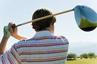 Golfer Watching Drive on Fairway