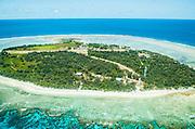 Aerial view of Lady Elliot Island, Great Barrier Reef, Queensland, Australia